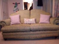 Vintage large sofa and armchair