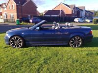 BMW 3 SERIES M SPORT CONVERTIBLE LOW MILES LONG MOT LEATHER INTERIOR (PX P/X PART EXCHANGE WHY?)