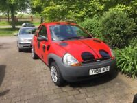 Ladybird, Ford KA 2006, 1 previous owner, low mileage, No MOT