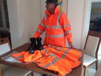 Hi-vis safety jacket trousers Vests helmet boots- all you need!