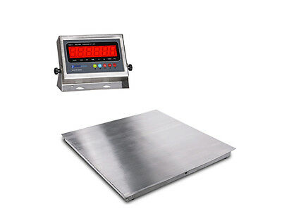 New Stainless Steel Floor Scale W Indicator 2x2 24x24 2500 Lbs X .5 Lb