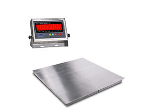 New stainless steel floor scale w indicator 2x2 24 x24 for 1000 lb floor scale