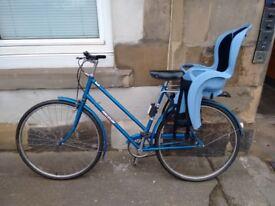 Blue ladies Raleigh bike for sale