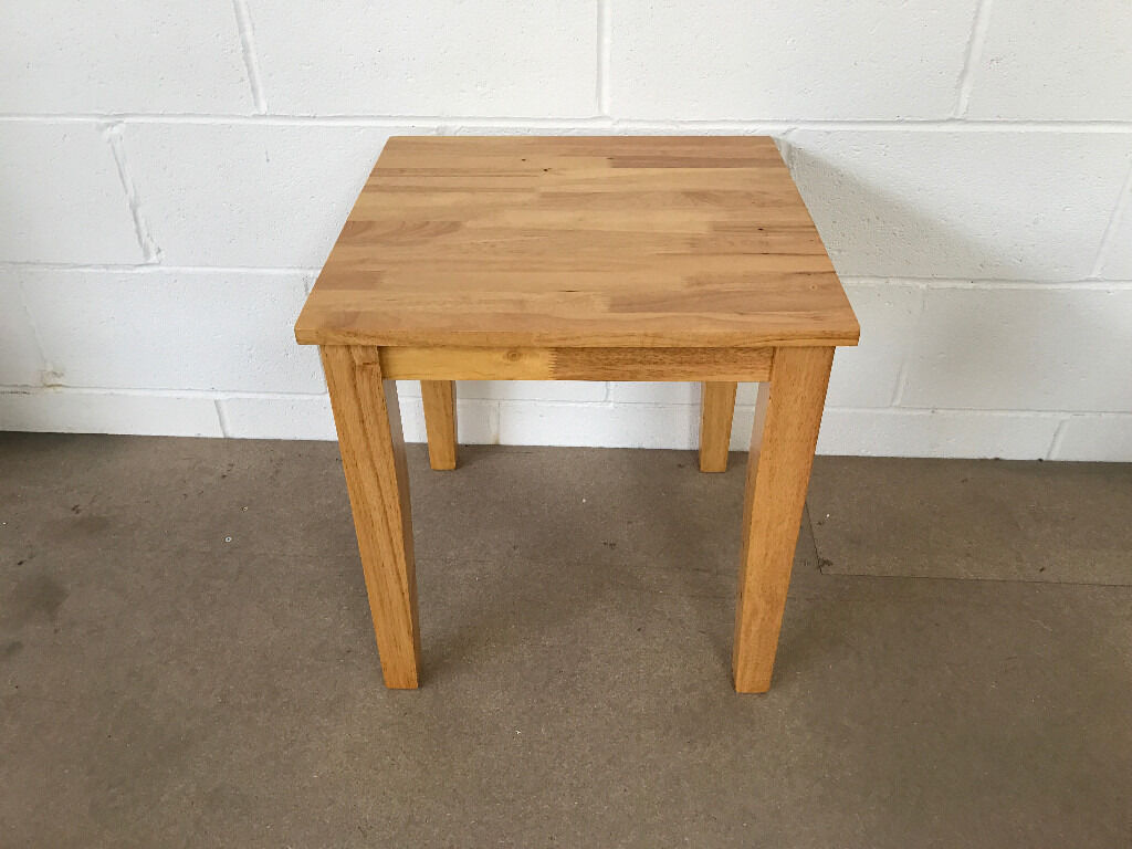 Boston Lamp Table Rubber Wood New Ready Built