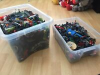 2 large boxes of assorted lego, 100's of pieces