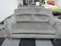 Harveys Grey Velvet 3 seater and 2 Seater Sofas very short use
