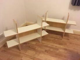 2 Ikea wall mounted shelving units