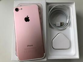 IPhone 7 rose gold 32gb ( unlocked) any network