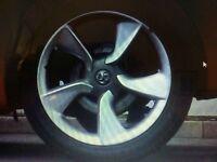 Astra gtc alloy 19inch wheel and Bridgestone tyre as new 175 ono 5 stud