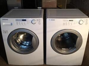 Samsung White Stackable Washer & Dryer, Front Load, Free Warranty, Delivery Available
