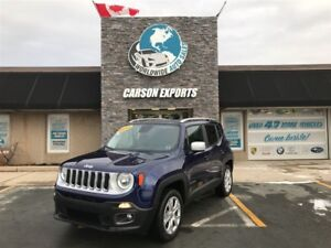 2017 Jeep Renegade LOOK LIMITED W/LEATHER! FINANCING AVAILABLE!