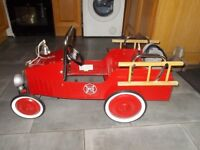 childs pedal car fire engine