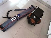 Complete Sea Fishing set up , rods, reels , tackle , seat bags ,stand the lot . L@@K.