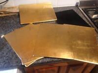 6 Placemats John Lewis Gold Leaf