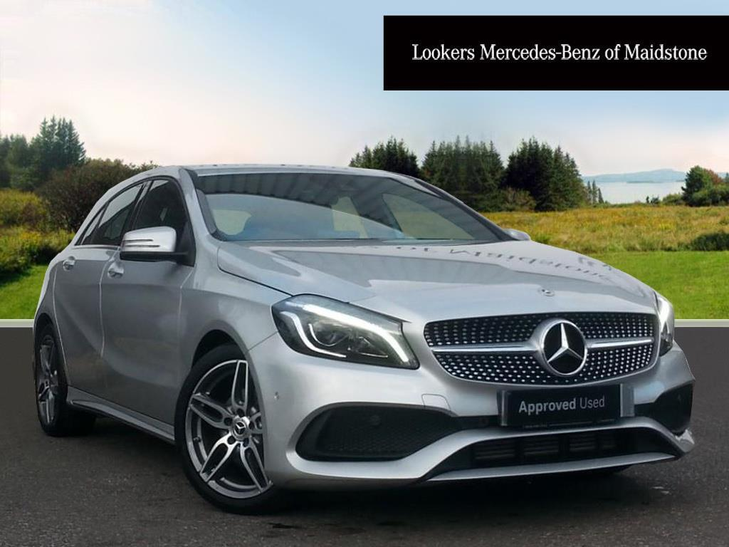 mercedes benz a class a 180 amg line premium silver 2017. Black Bedroom Furniture Sets. Home Design Ideas