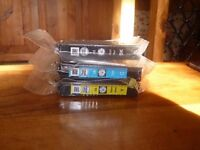 3 ink cartridges for epson daisy xp 422, black cyan, yellow, unopened.