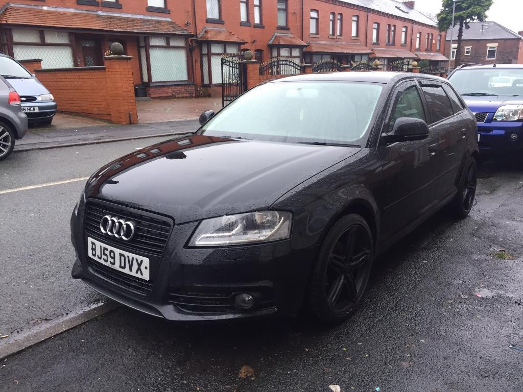 audi a3 2009 1 9 tdi s line full service history low mileage black edition in oldham. Black Bedroom Furniture Sets. Home Design Ideas
