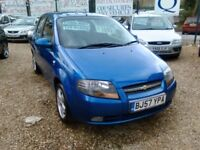 2008 Chevrolet kalos 1.4 petrol only 72.000 miles 5 door hatch back ideal first car full MOT