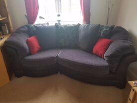 2 Year Old Sofa's Perfect Condition/no pets/non smoker Sofa 265cm x 110cm/Snuggle seat 170cm x 100cm