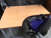 Good solid office desk and ergonomic office chair