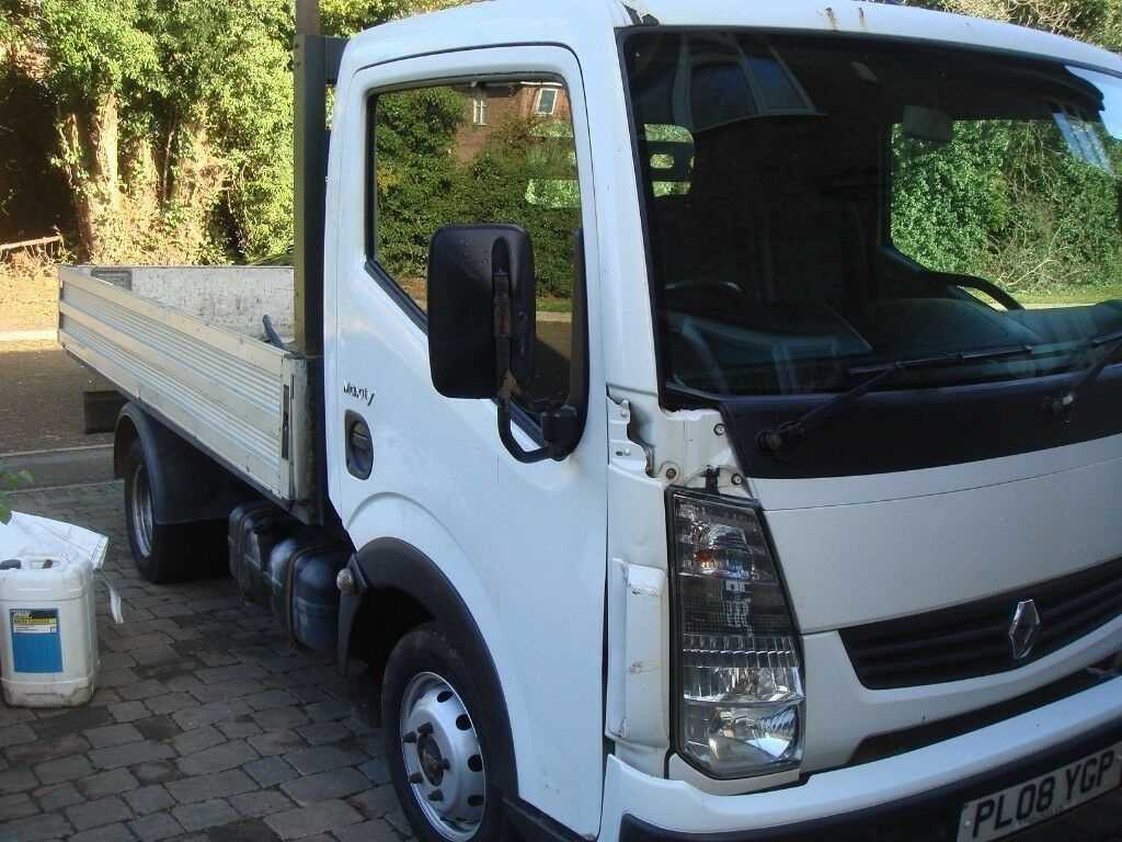 RENAULT MAXITY 2.5 FLAT BED PICKUP , 08 REG , LONG MOT , MAY PX VAN