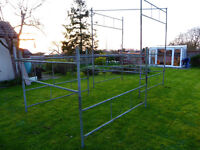 Tower scaffolding. Galvanised, heavy duty, 7ft square 16ft high