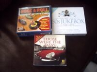 13 box sets of cds..80s hits..Shadows..Lennon & Mcartney..Driving songs..Those were the days..Rock..