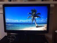 "42"" Baird TV with stand and shelf set & Sky+HD Box"