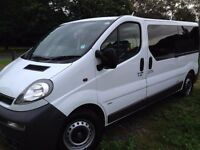 2004 Vauxhall Vivaro 2900 DTI LWB Minibus Manual 2.5 Diesel 11 Seater with Trachograph PSV