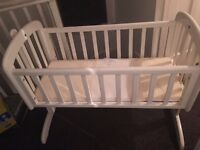 John lewis swinging crib with mattress hardly used
