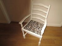 OAK CARVER CHAIR IDEAL FOR A BEDROOM PAINTED LAURA ASHLEY COUNTRY WHITE