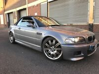 BMW M3 2004 3.2 2 door CONVERTIBLE MANUAL, FULLY LOADED, H/K SOUND, FSH, LOW MILEAGE