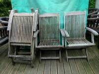 Garden chairs hardwood