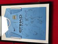 ***Manchester City Champions Signed Shirt***