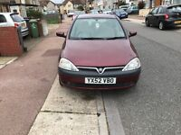 2002 vauxhall corsa 1.2 petrol mot and tax very very good condition any test welcome
