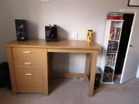 Home Desk Oak effect with drawers