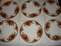 Royal Albert Old Country Roses. Bone China Tea Plates. Factory Seconds. Never Used