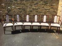 6 dinning chairs 2 carver 4 dinning