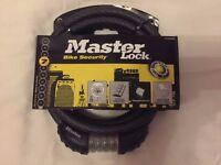 MASTERLOCK QUANTUM 180CM PHOSPHORESCENT CABLE LOCK Bike lock