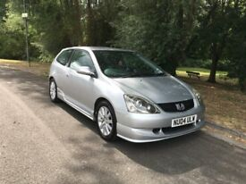 04 HONDA CIVIC 1.6 SPORT HOT HATCH GENUINE 1 OWNER 128K FSH 12 MOT NOT A TYPE R £1495 ONO
