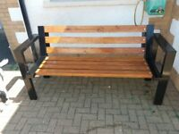 Hand made summer seats. Can be made to a variety of powder coated metals to your desired size.