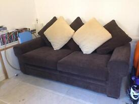 Metal Frame Sofa Bed - scotch guarded cost £1500 new
