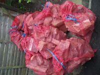 seasoned firewood in 10 KG sacks COLLECT TAUNTON