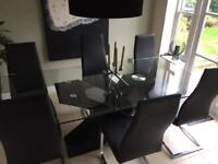 Barker & Stonehouse Kai Table & 6 Chairs.