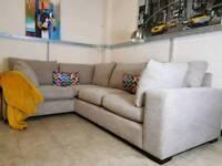 Next Sonoma Corner sofa in grey fabric RRP £1700