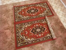 Small Burgundy Rugs x 2