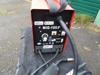 KENDE gasless mig 105/f welder with auto helmet