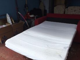 Sofa bed great condition new mattress used a couple of times