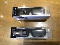 2 x Sony TDG - BR250 3D TV Glasses