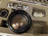 Praktica MTL3 M42 camera PLUS Carl Zeiss FLEKTOGON 35MM F2.4 and Optomax 85-205mm lenses & cases